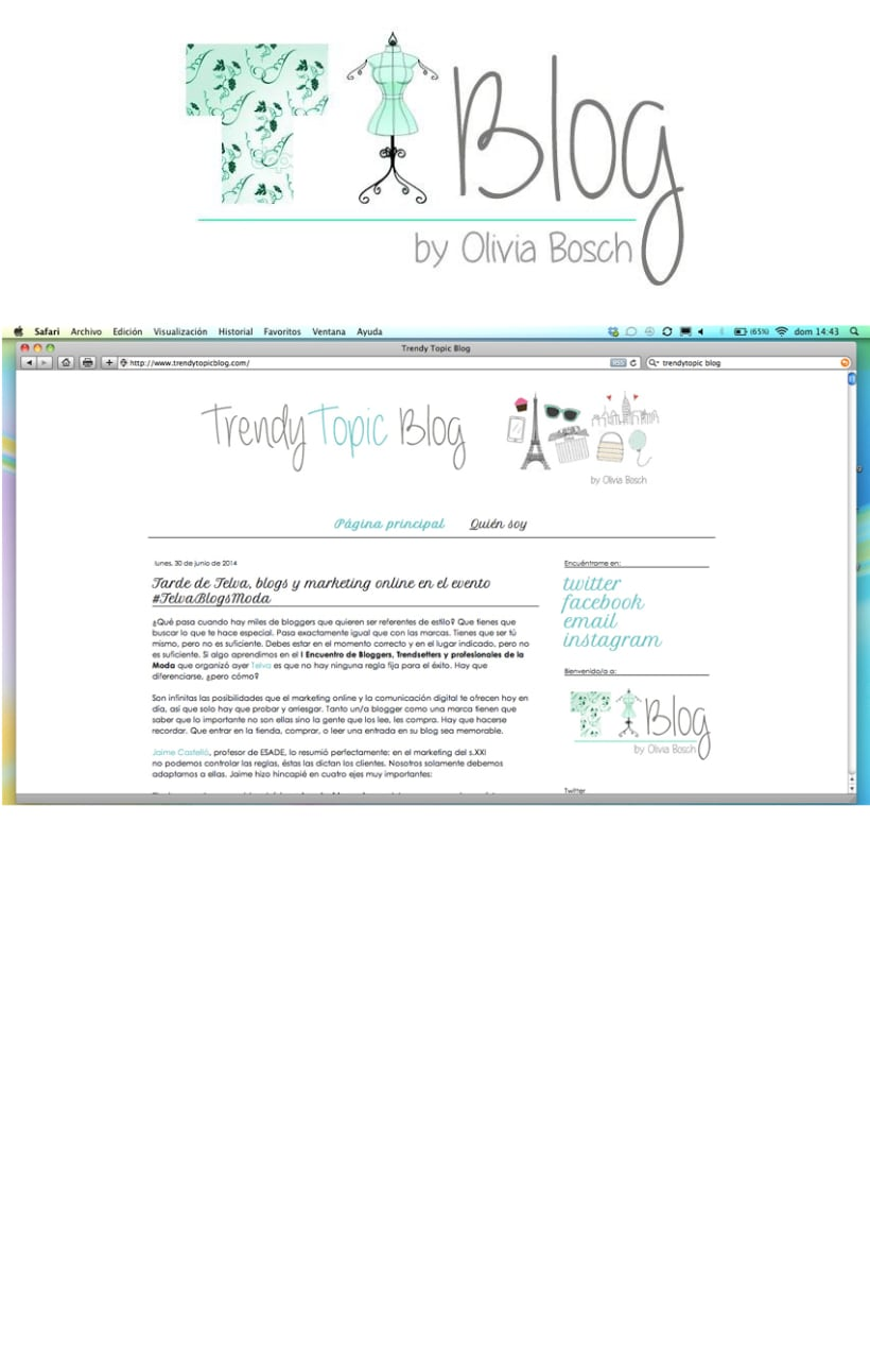 Logo Trendy Topic Blog (moda) 1