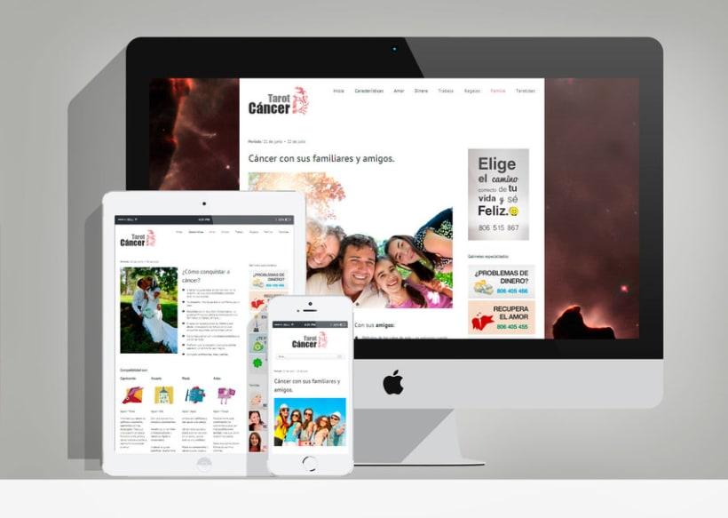 """Diseño y desarrollo web en Wordpress """"Tarot Cáncer"""" 0"""