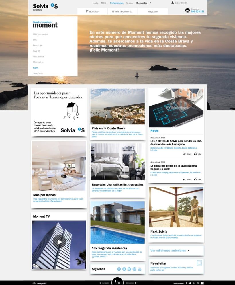 "Revista ""Moment"" online + Newsletter 0"