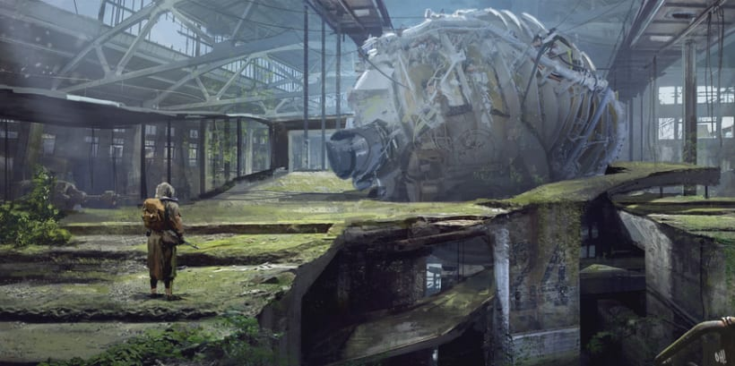 Matte painting concept-Tutorial. (WIP) -1