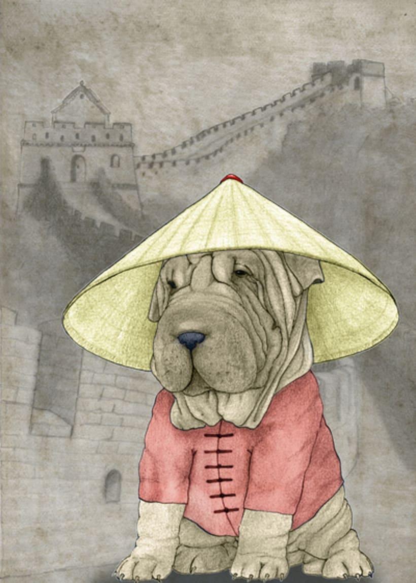 Perros con monumentos históricos 4