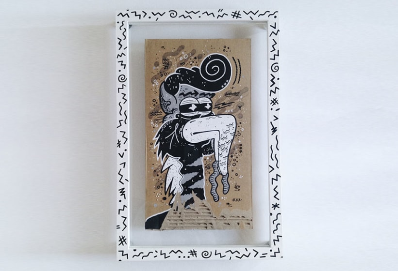 Recycled Art on Paperboard 7