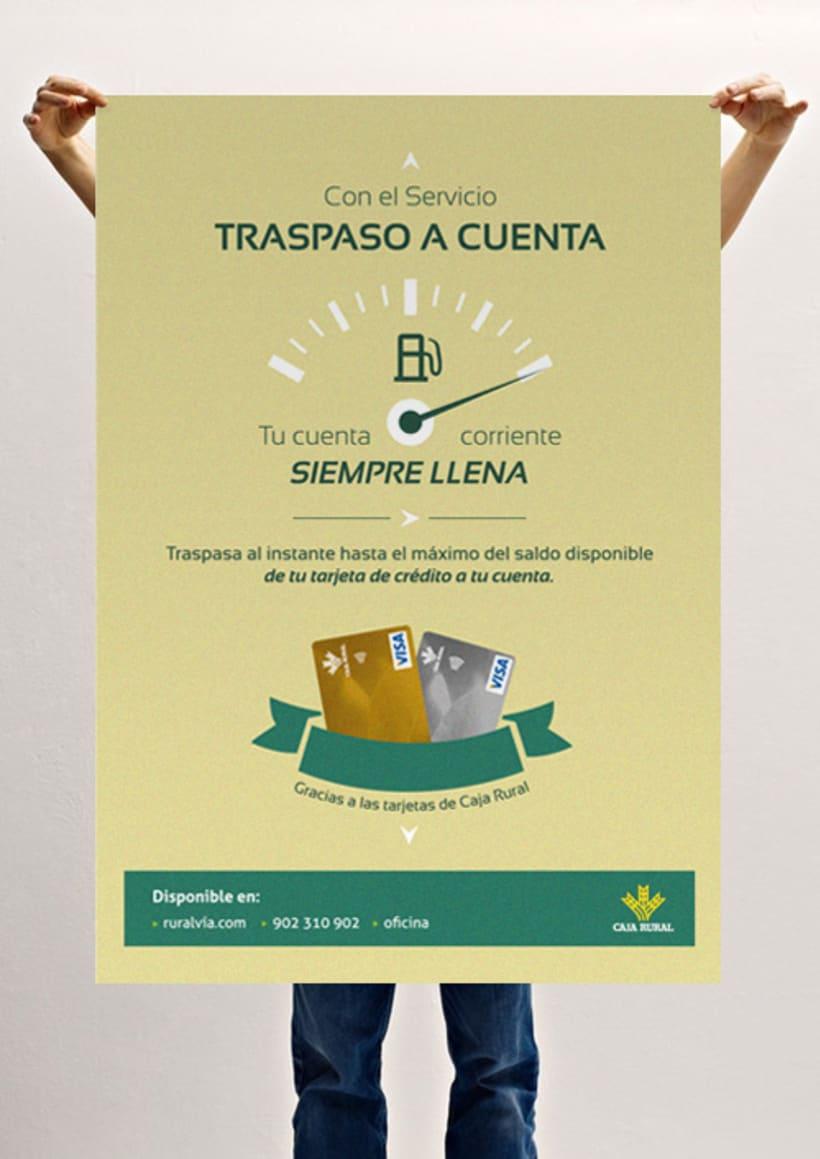 Diseño y maquetación de posters y octavillas para campañas publicitarias de Caja Rural -1