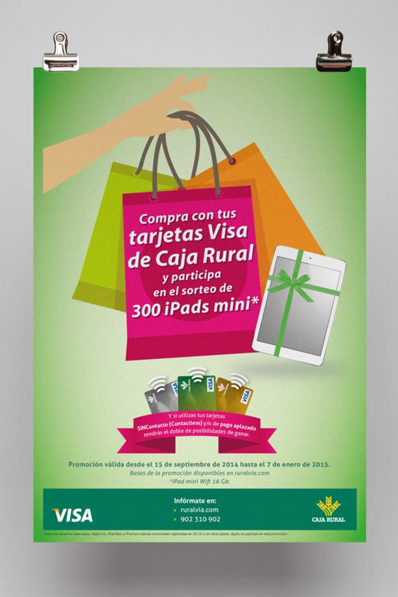 Diseño y maquetación de posters y octavillas para campañas publicitarias de Caja Rural 0