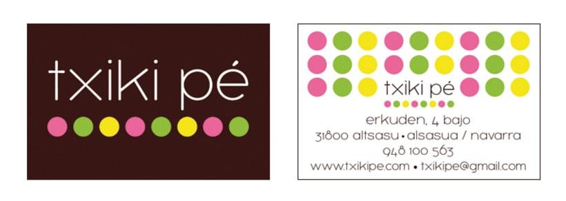 txiki pé / Logotipo y papelería 0
