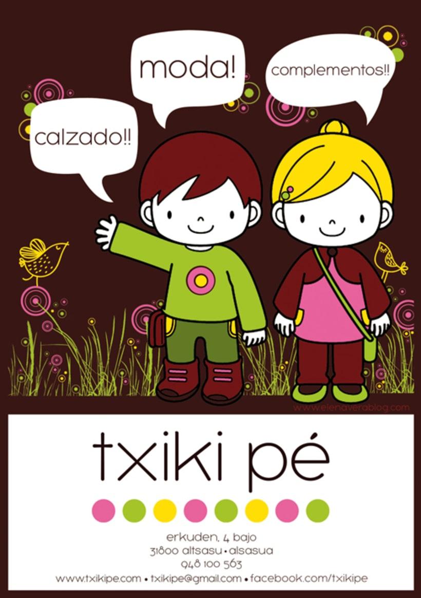 txiki pé / Logotipo y papelería 1