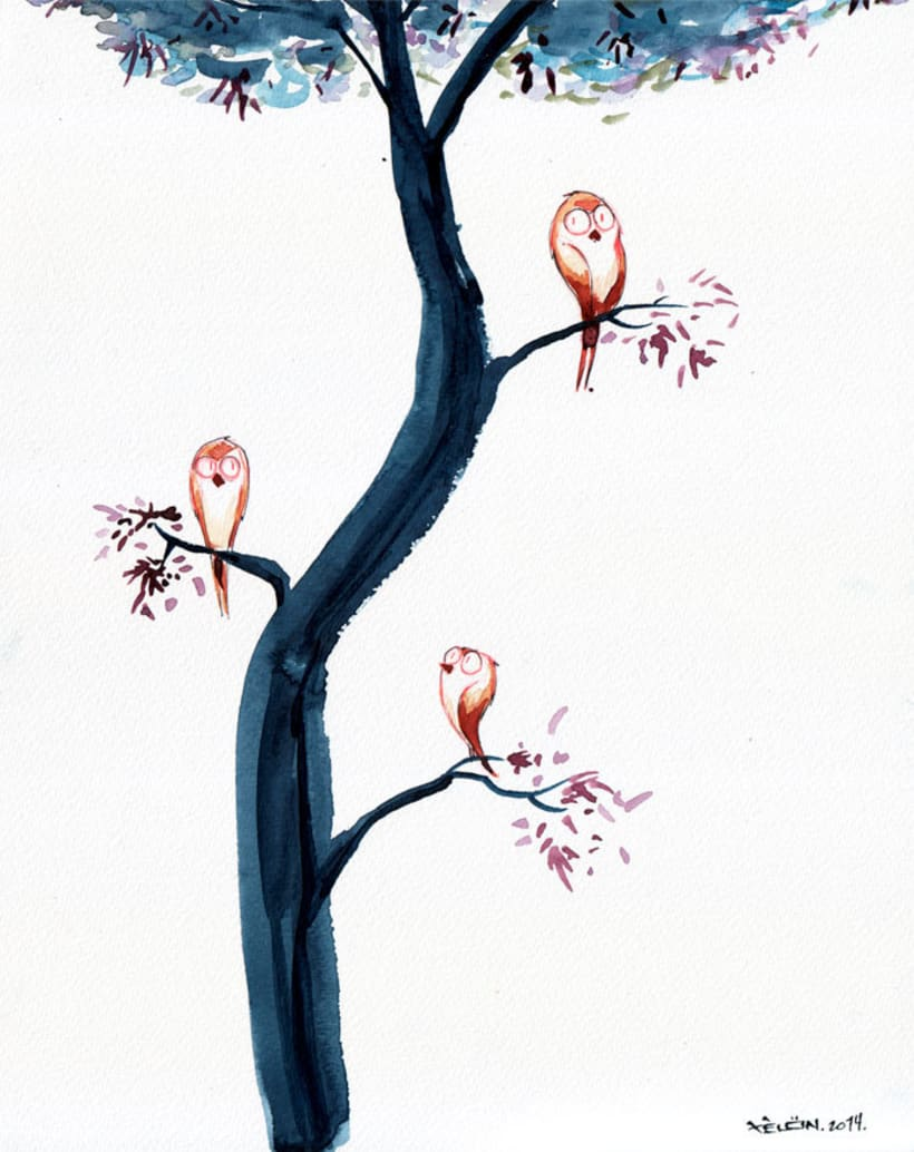 Blue Wood (acuarela/watercolor) -1