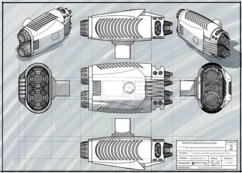 Submarino para vídeo juego 4