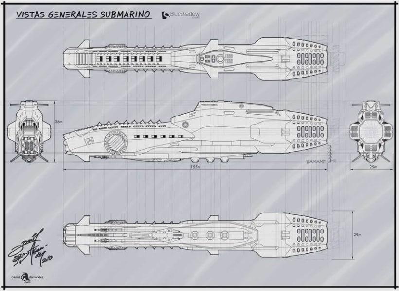 Submarino para vídeo juego 12