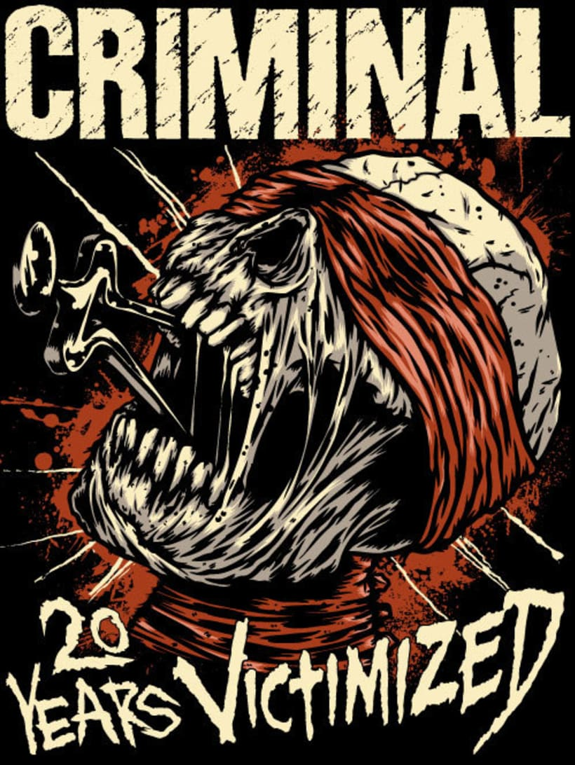 Cirminal - 20Years Victimized 2014 Tour Merchandise -1