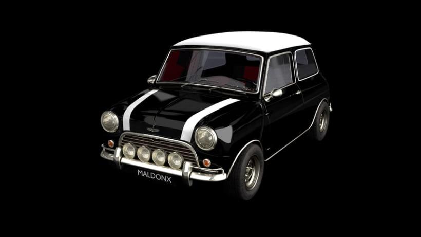 Austin Mini Cooper 1963 (Blender 3D) -1