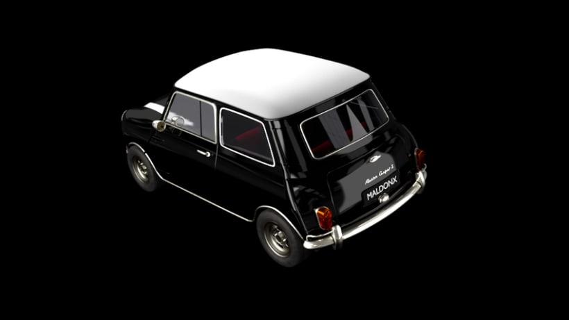 Austin Mini Cooper 1963 (Blender 3D) 0