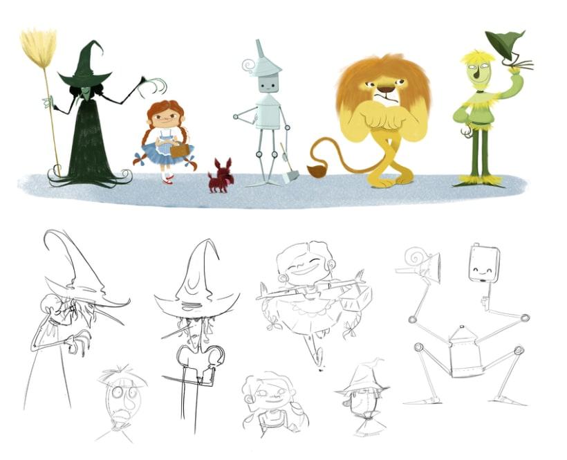 Character designs (II) 5