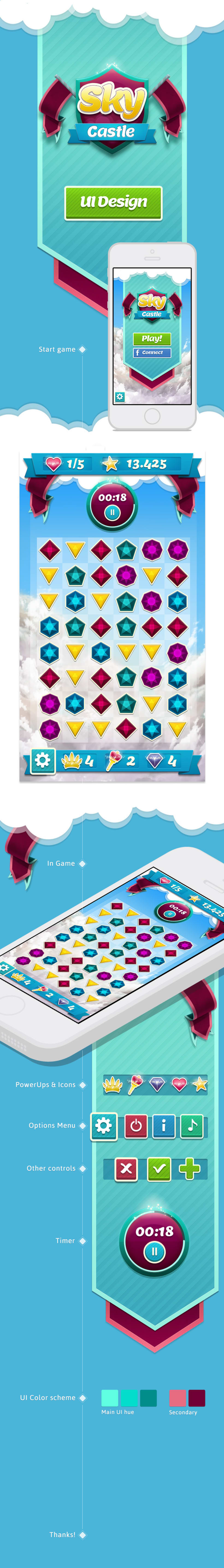 Sky Castle - Game UI Design 0