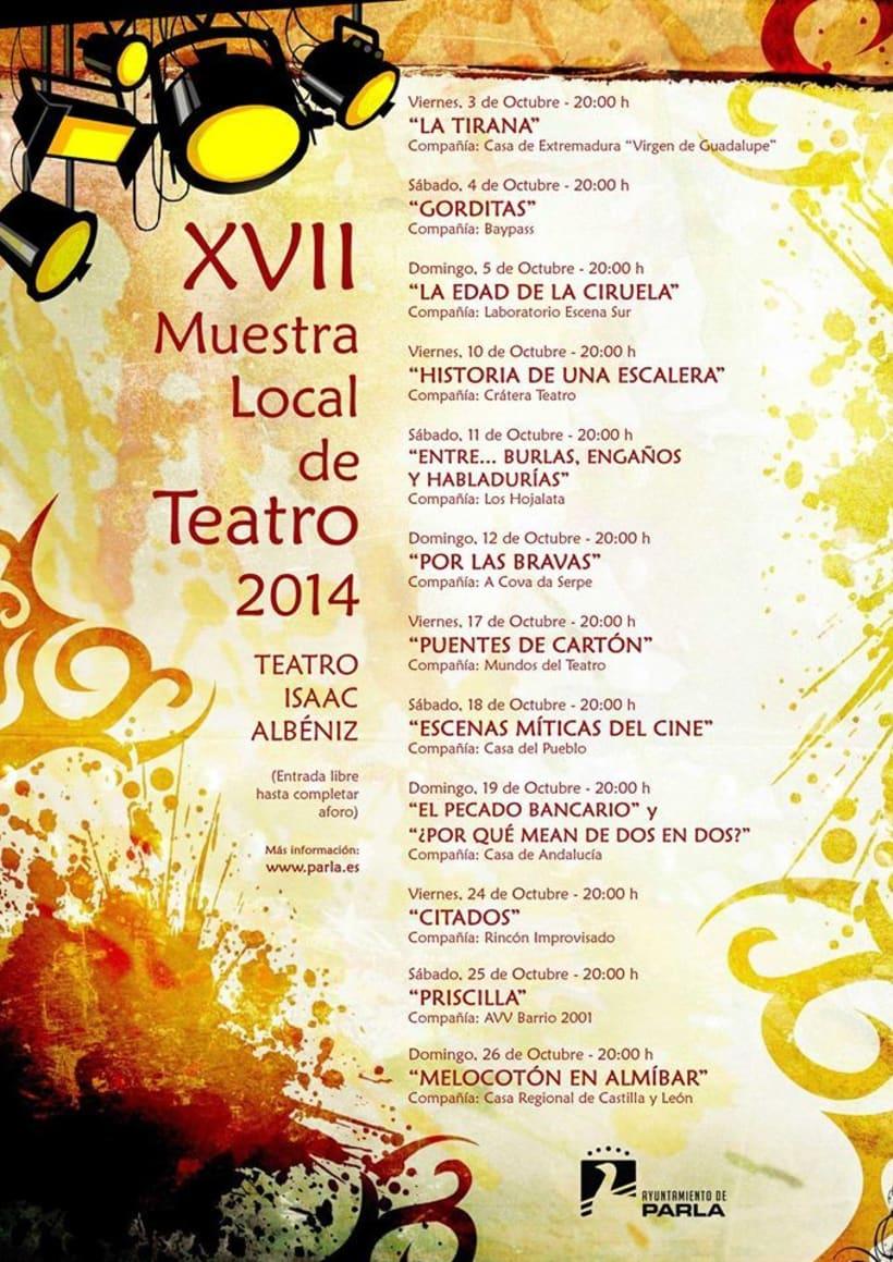 Cartel - XVII Muestra Local de Teatro de Parla -1