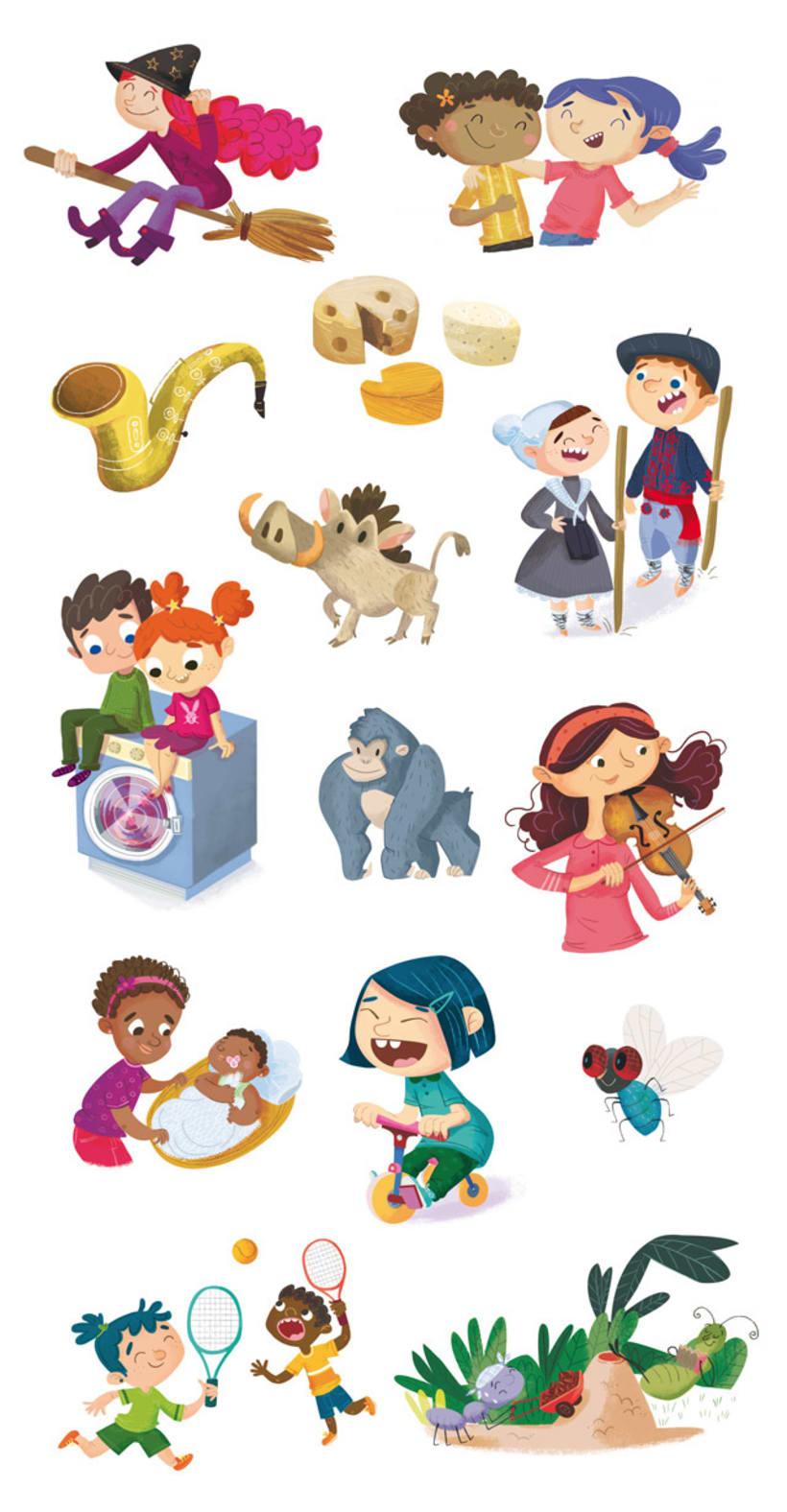 Ilustraciones para libro de alumno. -1
