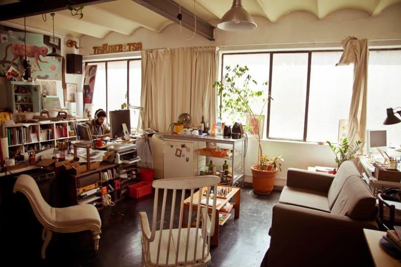 Espacio disponible en estudio compartido. Barcelona (Gracia) 0