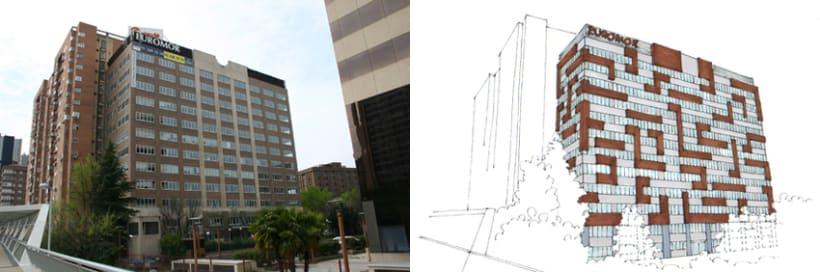 3D Proyecto modificación fachada 3