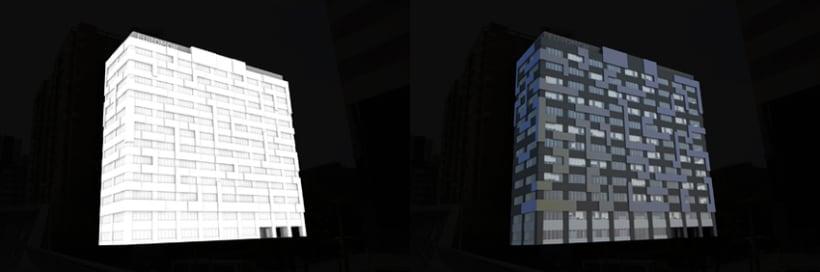3D Proyecto modificación fachada 4
