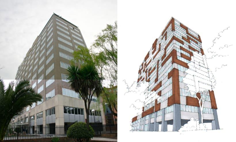 3D Proyecto modificación fachada 6