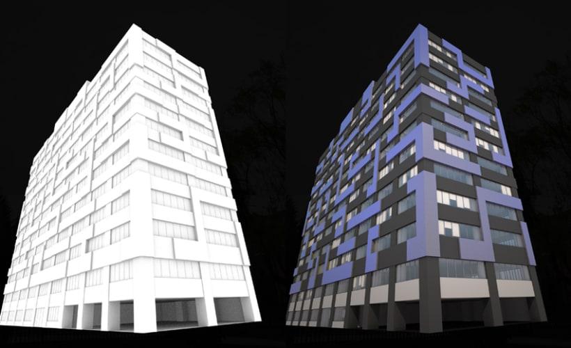 3D Proyecto modificación fachada 7