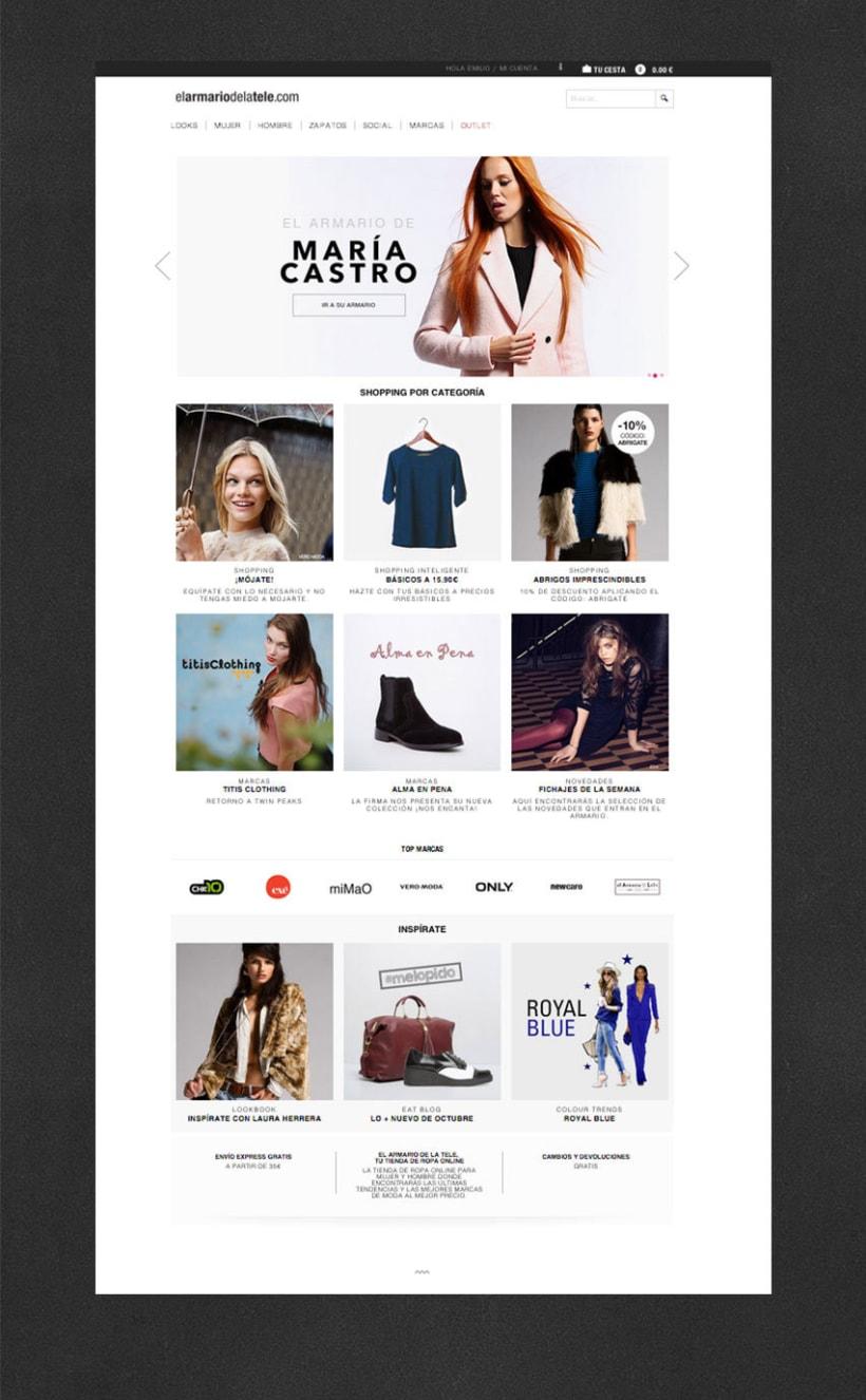 Diseño web www.elarmariodelatele.com 2