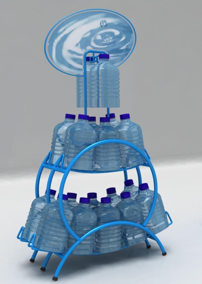 Exhibidor PLV de agua 0