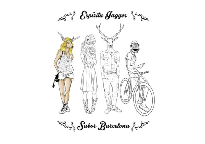 Dibujo Jaggermaister Barcelona moda -1