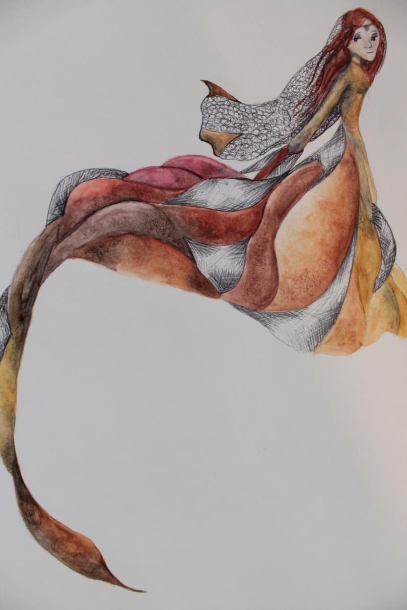 """Ilustraciones para el libro """"Tre capelli d'oro del diavolo"""" -1"""