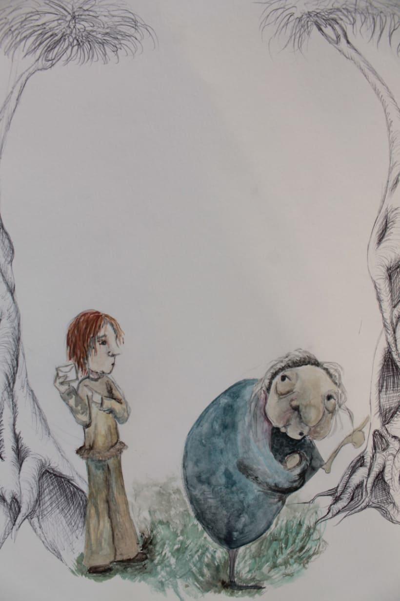 """Ilustraciones para el libro """"Tre capelli d'oro del diavolo"""" 1"""