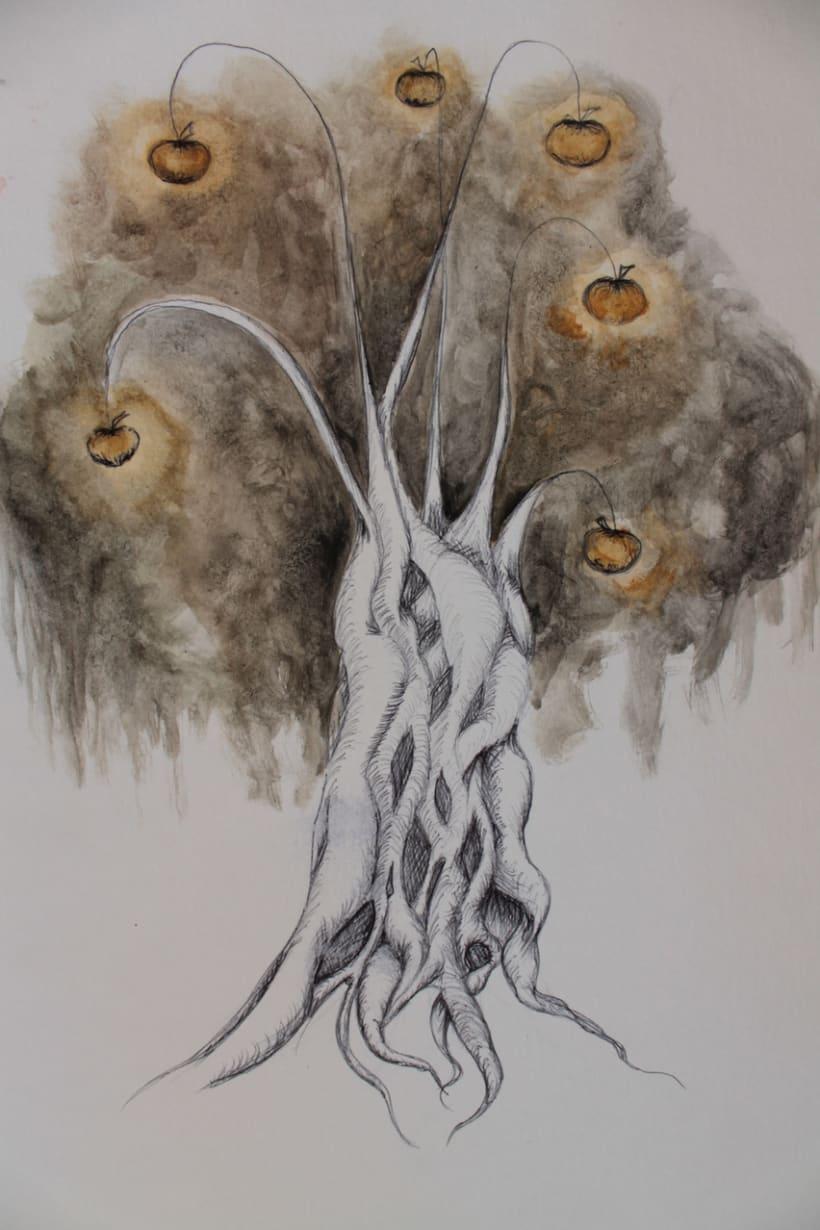 """Ilustraciones para el libro """"Tre capelli d'oro del diavolo"""" 2"""