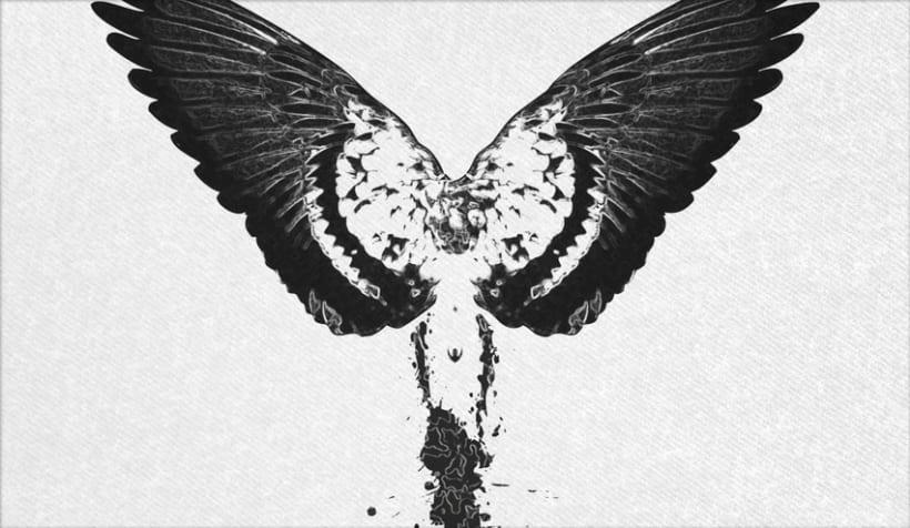 Ángel Abstracto 1