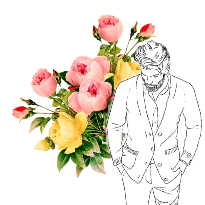 Drawings: Guys and flowers 3