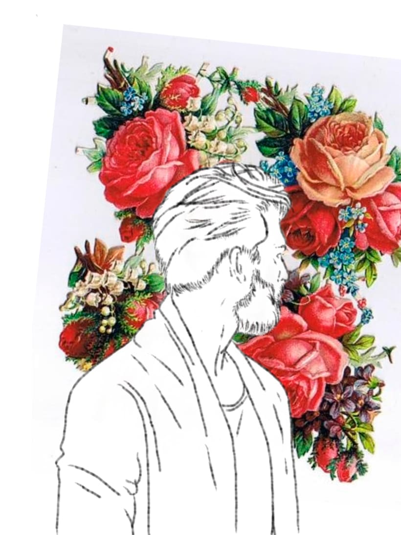 Drawings: Guys and flowers 1