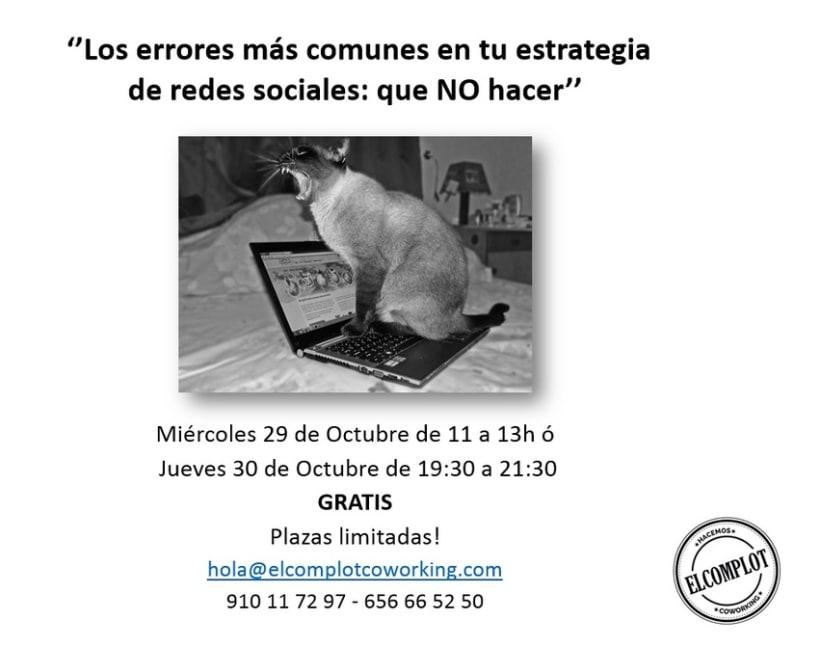 Workshop - charla gratuita ''Los errores más comunes en redes sociales: que NO hacer'' 1