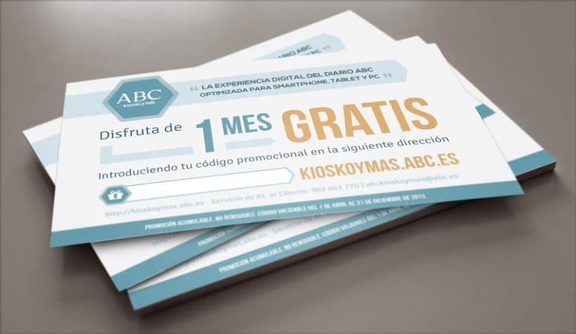ABC Kiosko y Más · Tarjetón 1 Mes Gratis 0