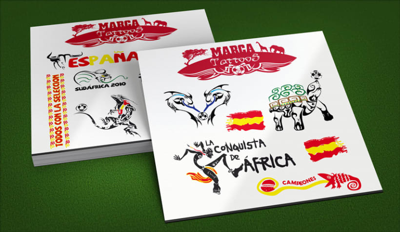 Marca · Tattoos Mundial de Fútbol 2010 0