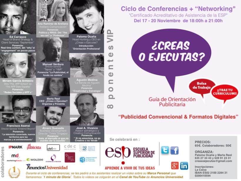 """Ciclo de Conferencias """"Publiciad Convencional y Formatos Ditigales"""" 1"""