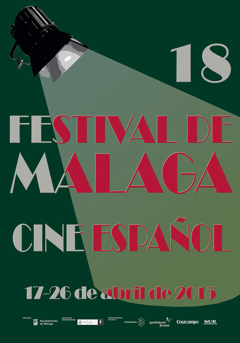 concurso de carteles Festival de cine español de Málaga -1