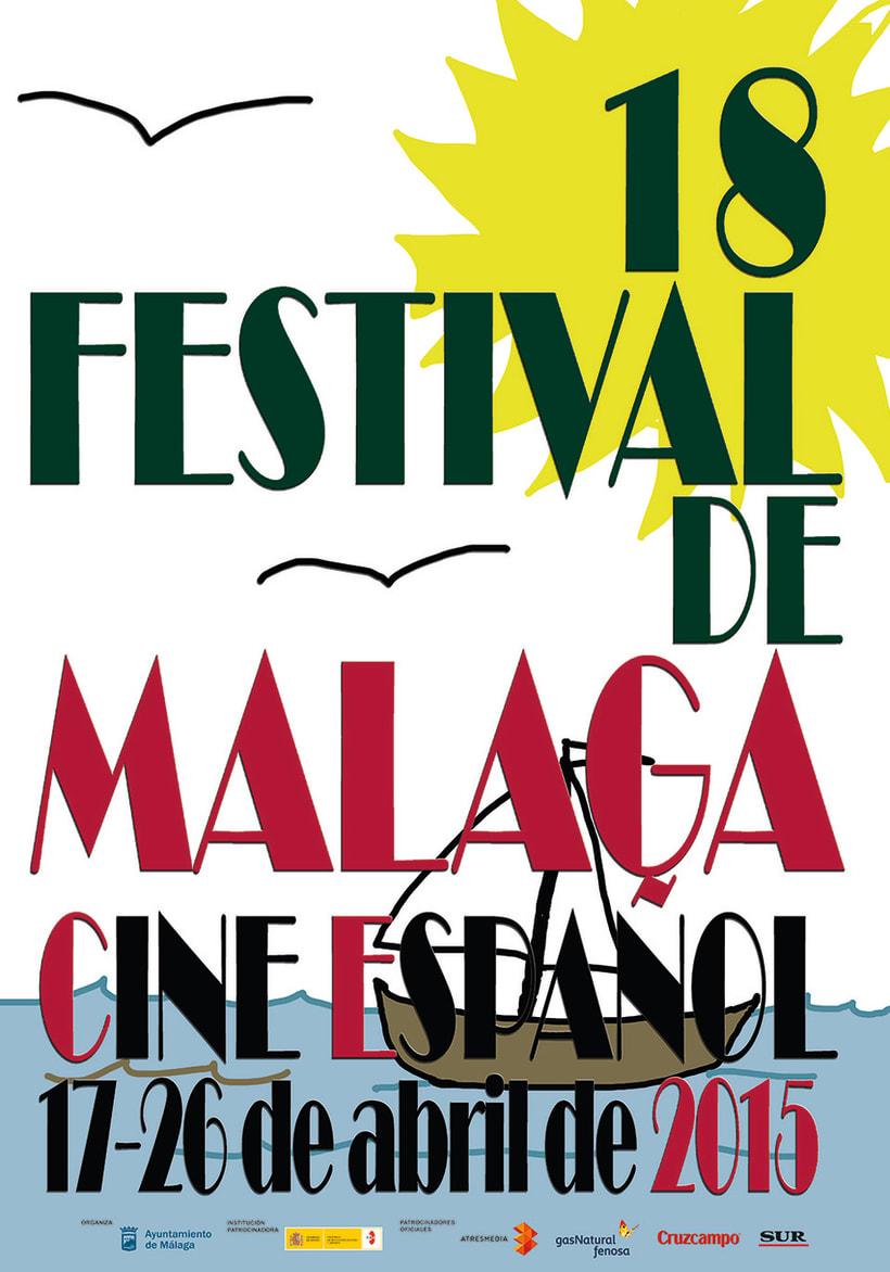 concurso de carteles Festival de cine español de Málaga 0