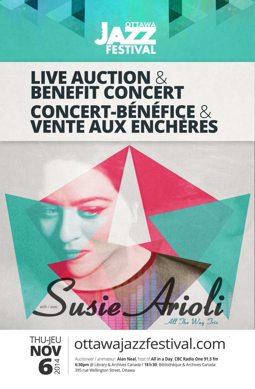 New SUSIE ARIOLI – ALL THE WAY TRIO	 Annual Live Auction and Benefit Concert 0