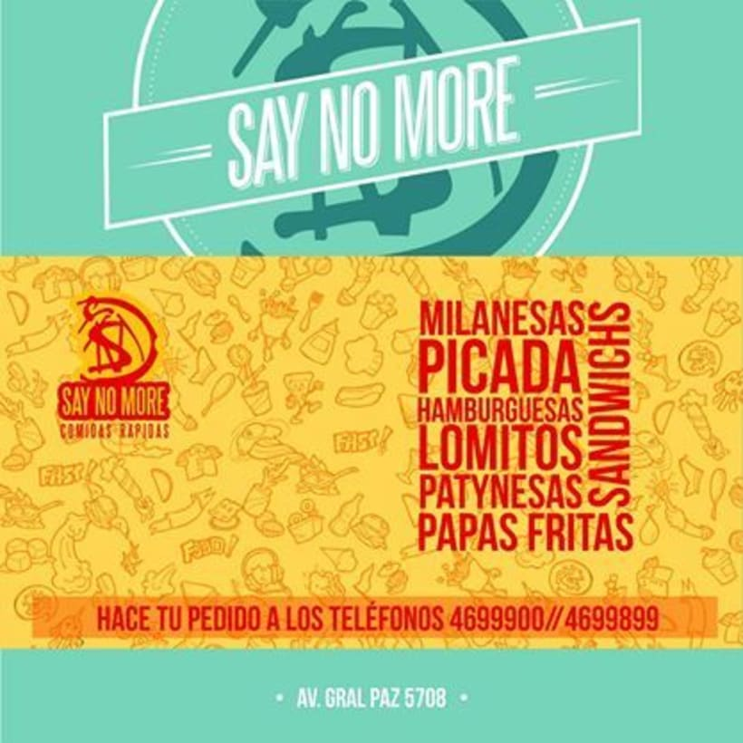 Say No More - Comidas Rápidas 3