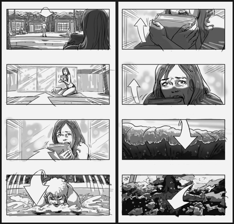 Lo Imposible / The Impossible - J. A. Bayona (Film Storyboards