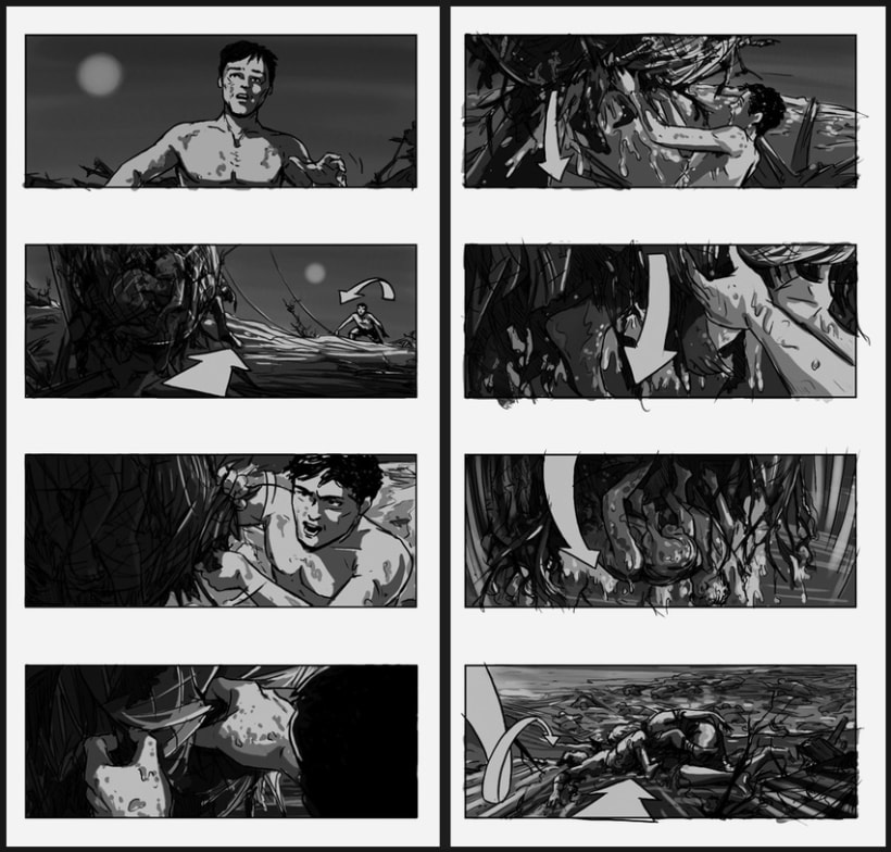 Lo Imposible / The Impossible - J. A. Bayona (Film storyboards) 1