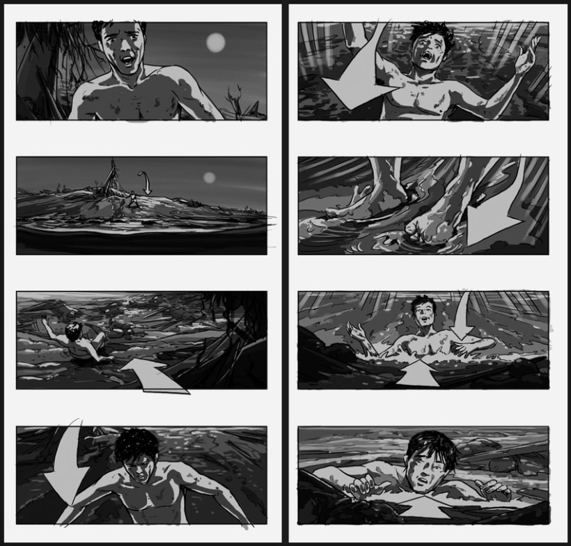 Lo Imposible / The Impossible - J. A. Bayona (Film storyboards) 2
