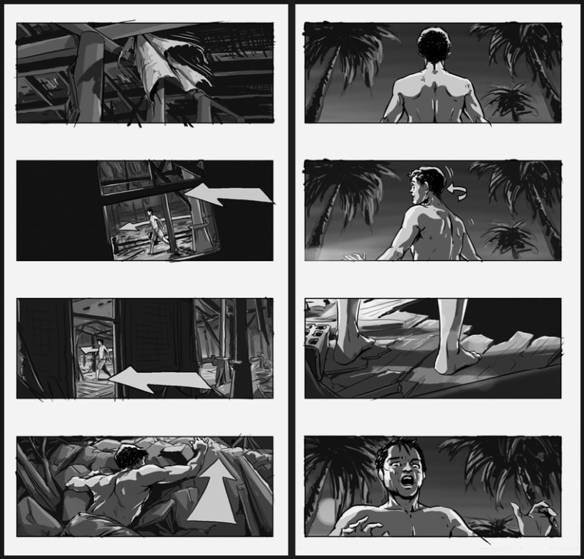 Lo Imposible / The Impossible - J. A. Bayona (Film storyboards) 5