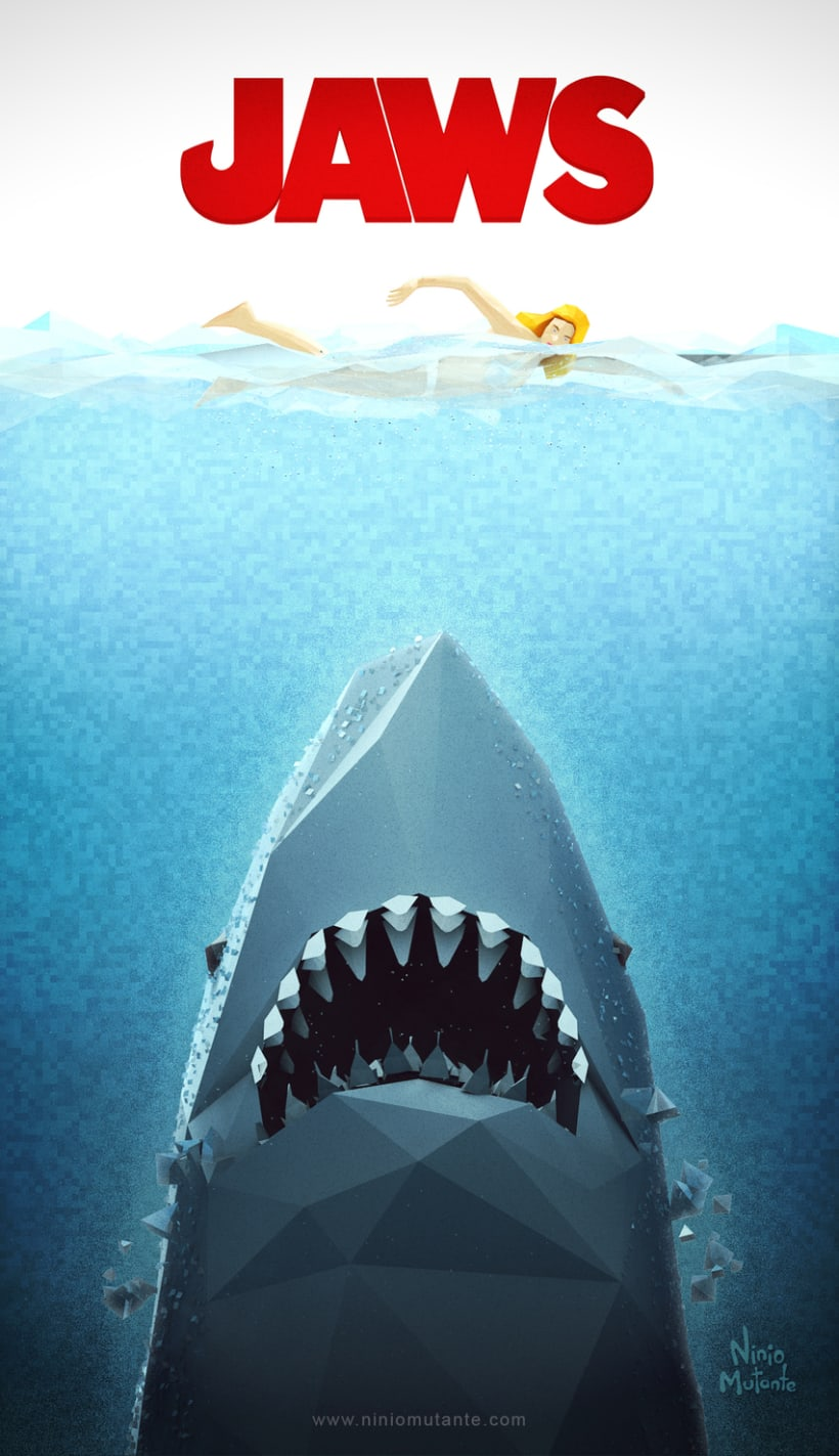 Poster JAWS Low Poly 0