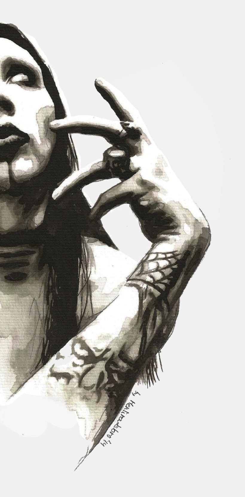 Inspiration (Portrait of Marilyn Manson) 1