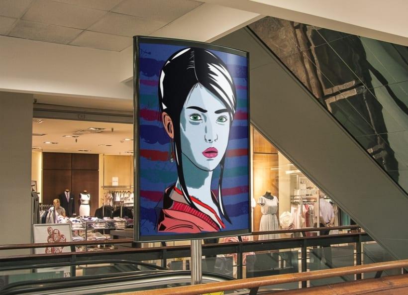 Ilustración Geisha 1