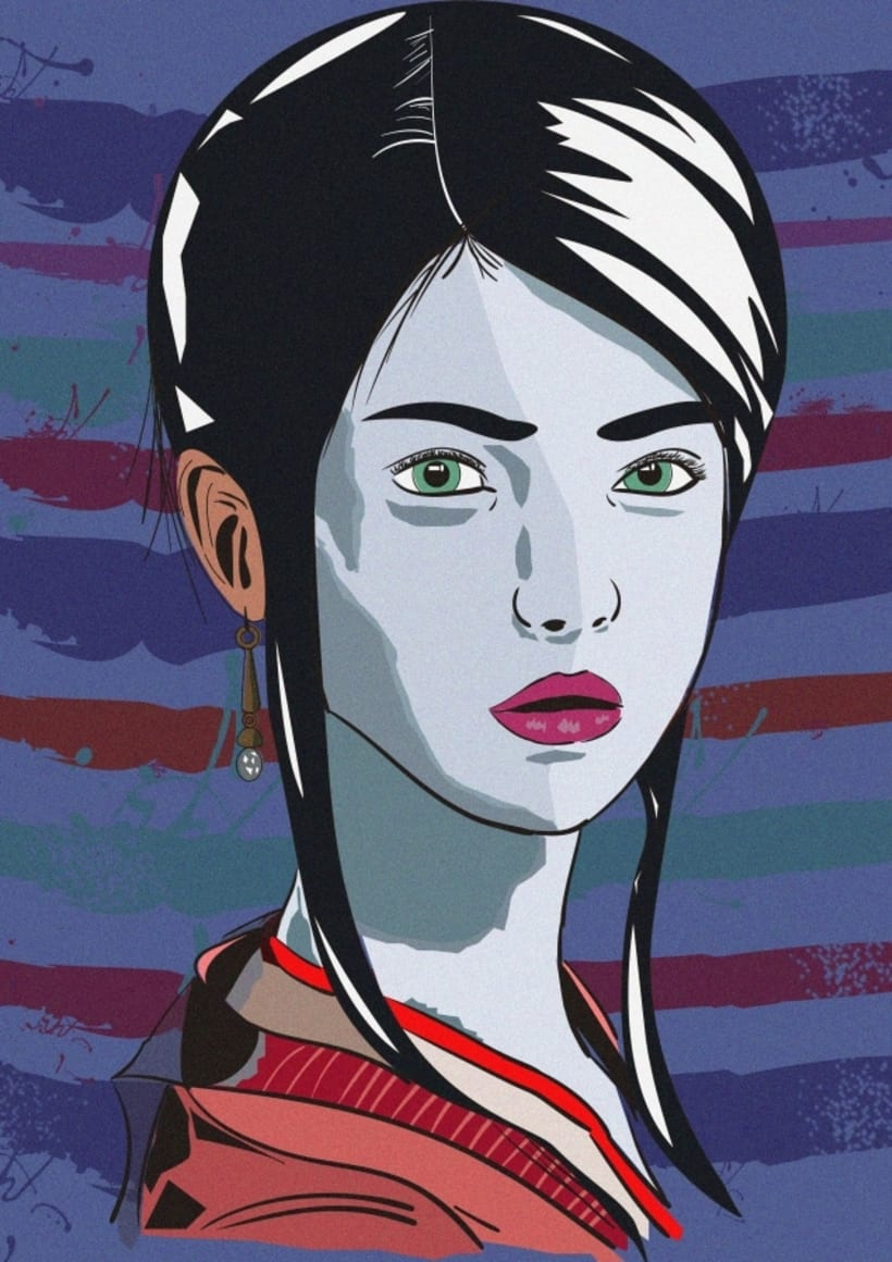 Ilustración Geisha 0